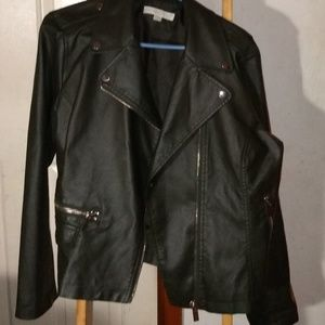 New York & Company Faux Leather Jacket, size XL